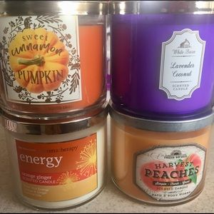 4 Bath & Body Works Candles Brand New